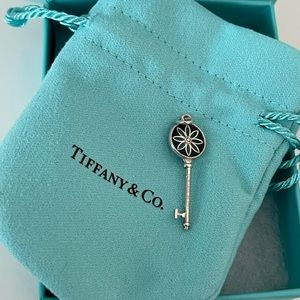 Tiffany Sterling Silver Daisy Key Pendant